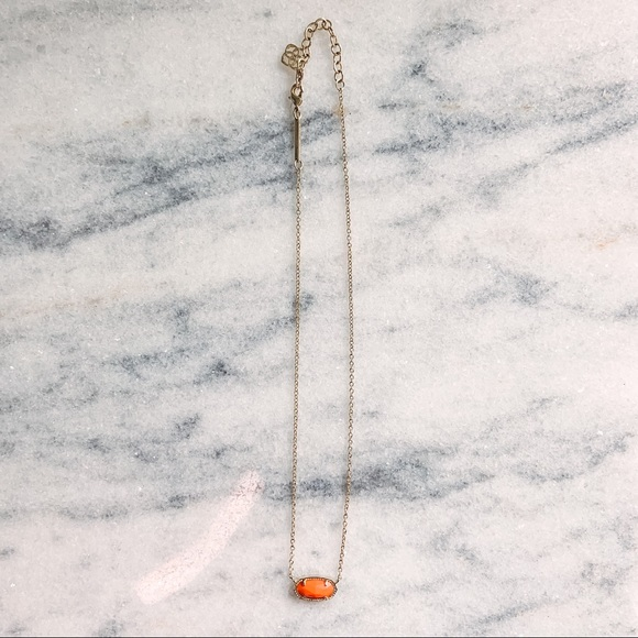Kendra Scott Elisa Pendant Necklace in Orange